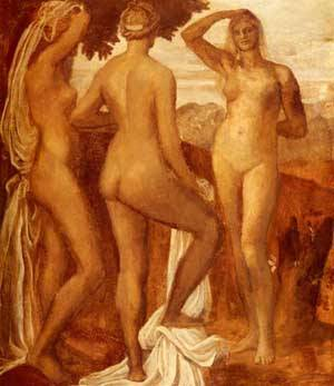 The Judgement Of Paris | George Frederick Watts | Oil Painting