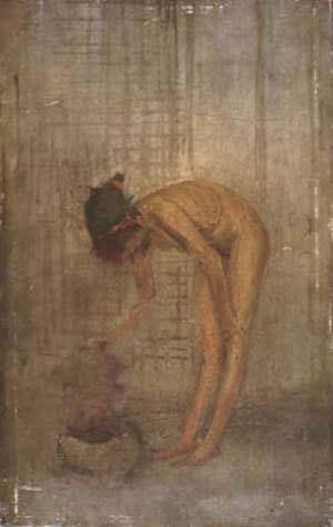 Nude Girl With A Bowl | James Abbott Mcneill Whistler | Oil Painting