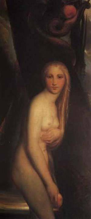 Eve Experiencing Her First Guilt After Sinning   Antoine Wiertz   Oil Painting