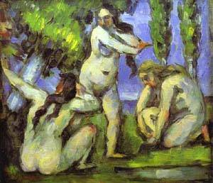 Three Bathers | Paul Cezanne | Oil Painting