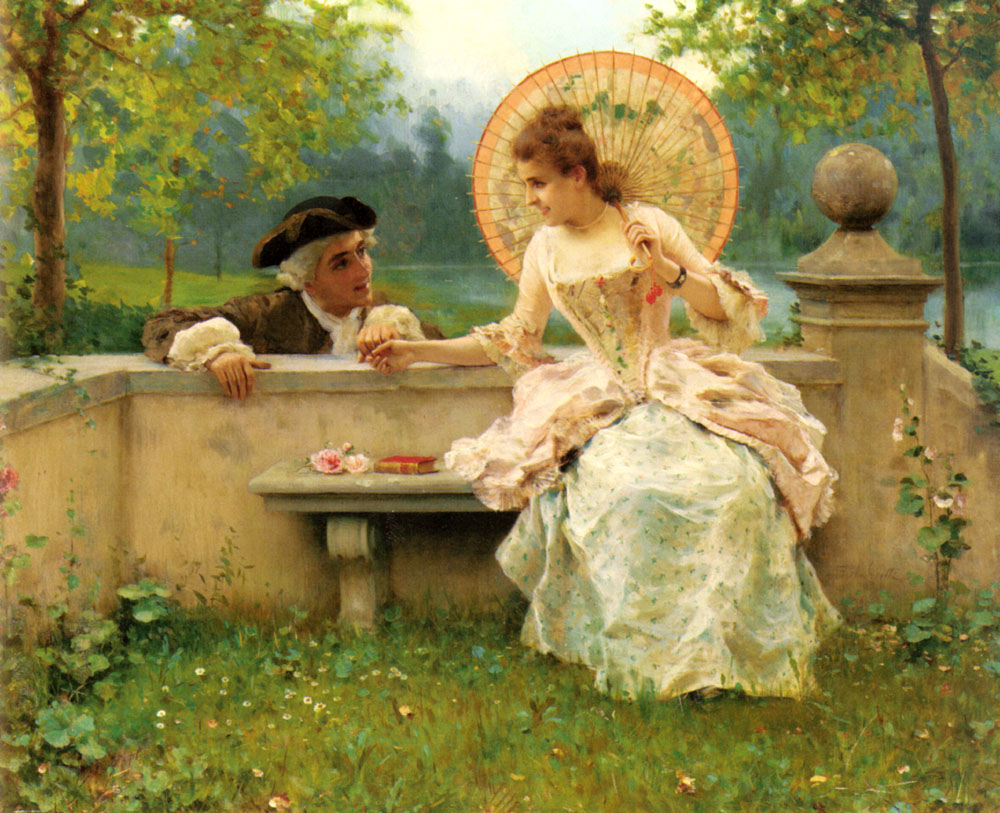 A Tender Moment In The Garden | Federico Andreotti | Oil Painting