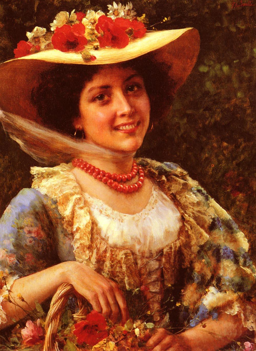 Cappello Di Paglia Papaveri Painting  4d070f85eb58