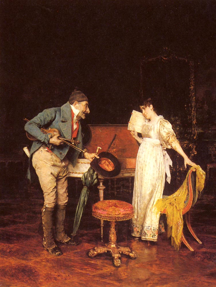 The Music Lesson | Federico Andreotti | Oil Painting