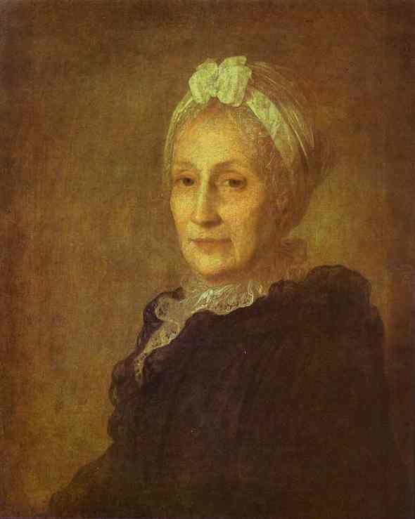 Portrait Of Anna Yuryevna Kvashnina Samarina 1770s | Fedor Rokotov | Oil Painting
