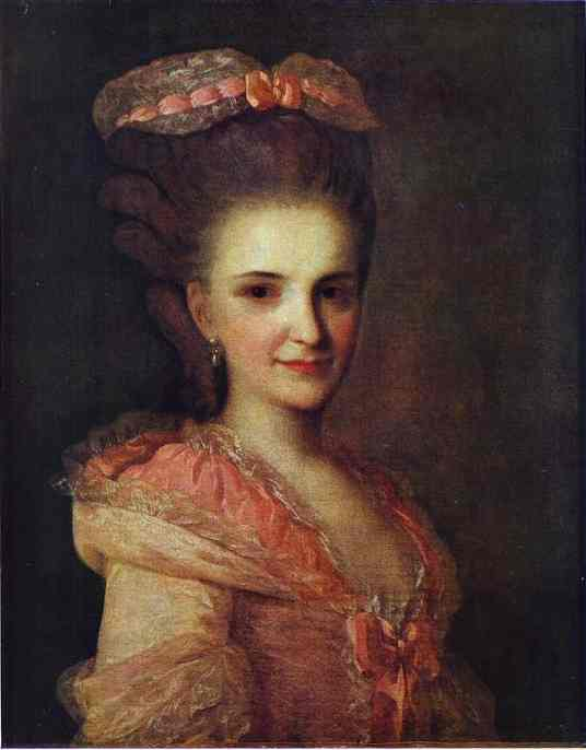 Portrait Of An Unknown Lady In A Pink Dress 1770s | Fedor Rokotov | Oil Painting