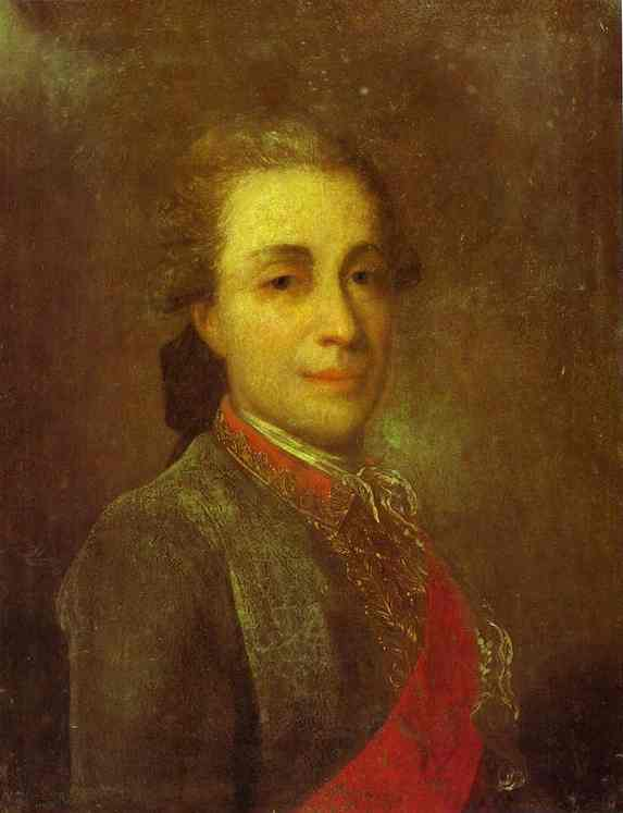 Portrait Of An Unknown Man In A Green Caftan 1770s | Fedor Rokotov | Oil Painting