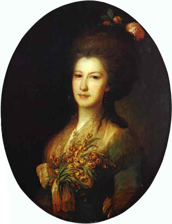 Portrait Of Countess Elizaveta Santi 1785 | Fedor Rokotov | Oil Painting