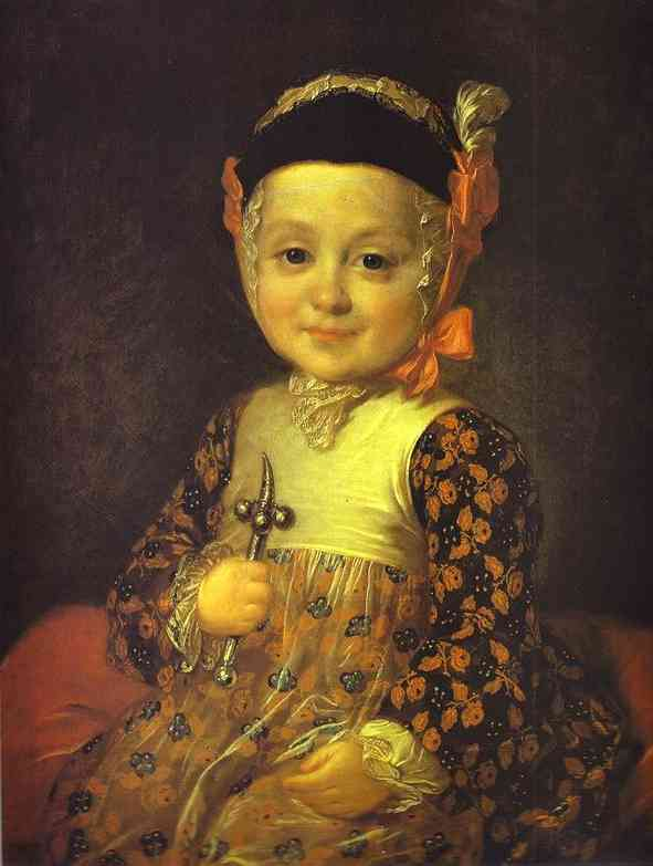 Portrait Of Count Alexey Bobrinsky As A Child 1760s | Fedor Rokotov | Oil Painting