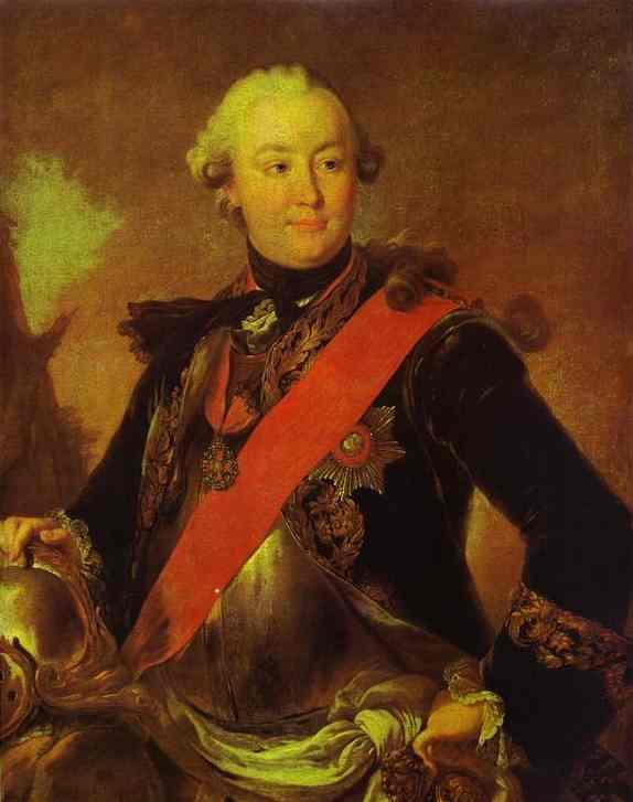Portrait Of Count G G Orlov 1762-1763   Fedor Rokotov   Oil Painting