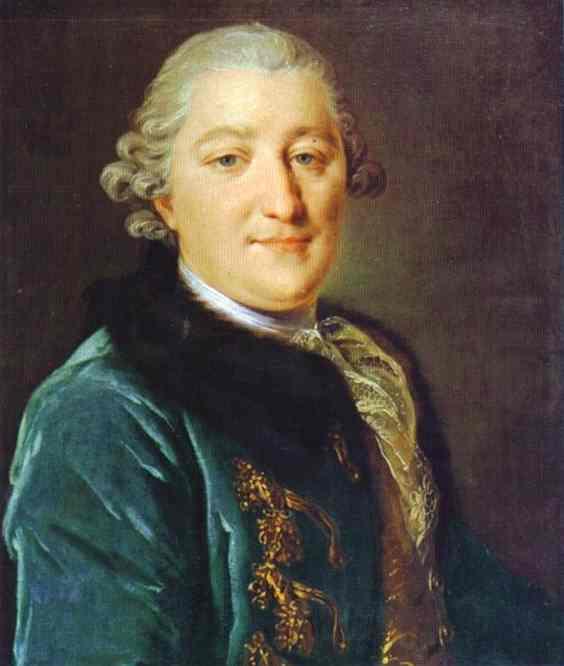 Portrait Of Count I G Orlov 1762-65 | Fedor Rokotov | Oil Painting