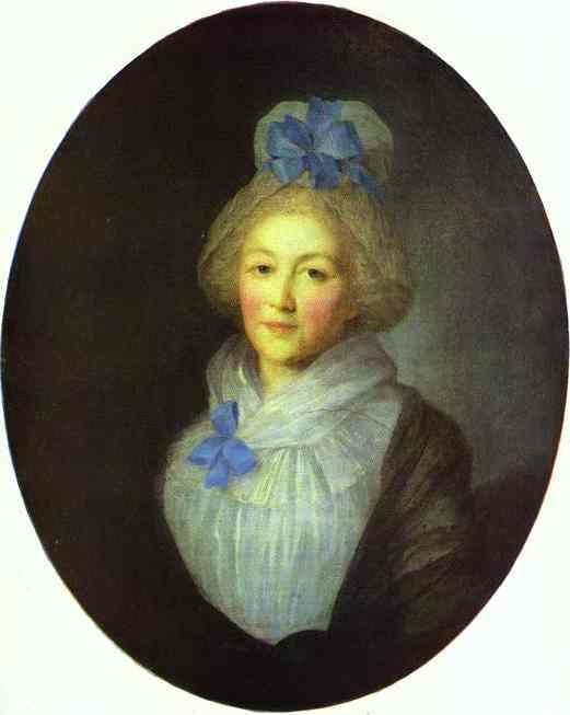 Portrait Of Princess A A Dolgorukaya Nee Bredikhina 1790s   Fedor Rokotov   Oil Painting