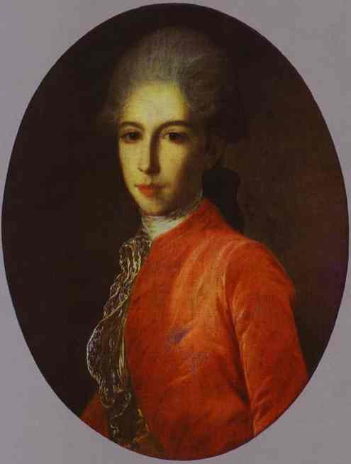 Portrait Of Prince Ivan Bariatinsky As A Youth 1780s   Fedor Rokotov   Oil Painting