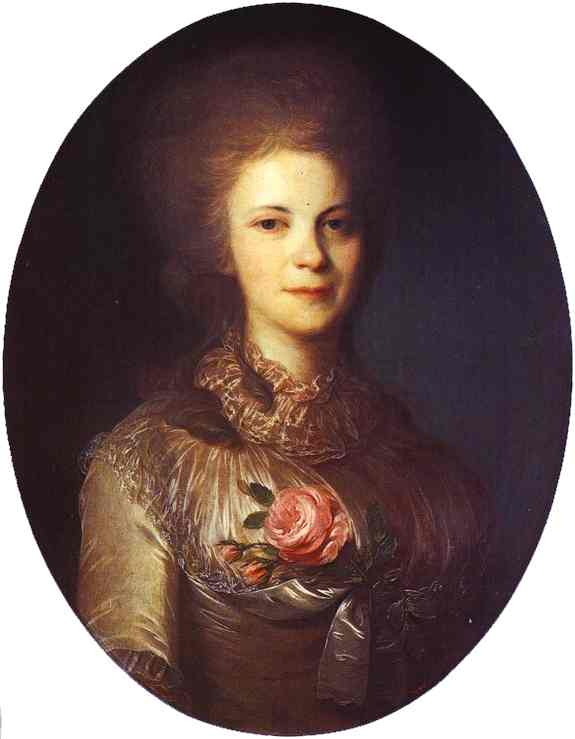 Portrait Of V N Surovtseva 1780s | Fedor Rokotov | Oil Painting