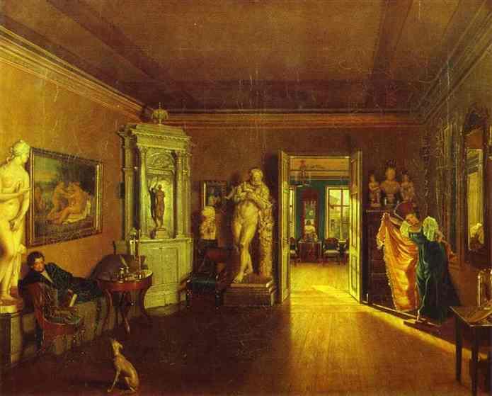 Venetsianovs Study (Copy Of Tyranovs Painting) 1830s-1840 | Fedor Slavyansky | Oil Painting