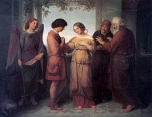 Sara Wird Tobias Zugefuhrt | Felix Schadow | Oil Painting