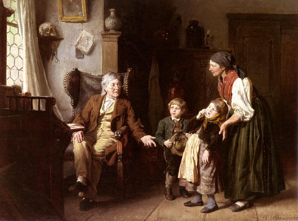 Besuch Beim   Felix Schlesinger   Oil Painting