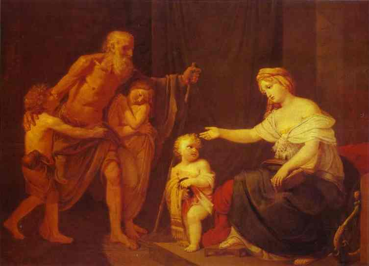 Charity 1820s | Feodor Bruni | Oil Painting