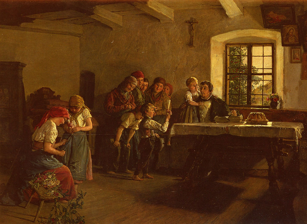 The Center Of Attention   Ferdinand Georg Waldmuller   Oil Painting