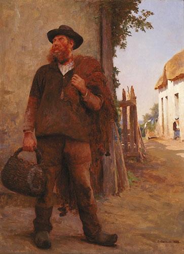 Avant la peche | Fernan Cormon | Oil Painting
