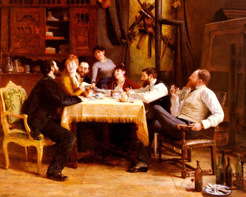 Un Dejeuner D-Amis | Fernan Cormon | Oil Painting