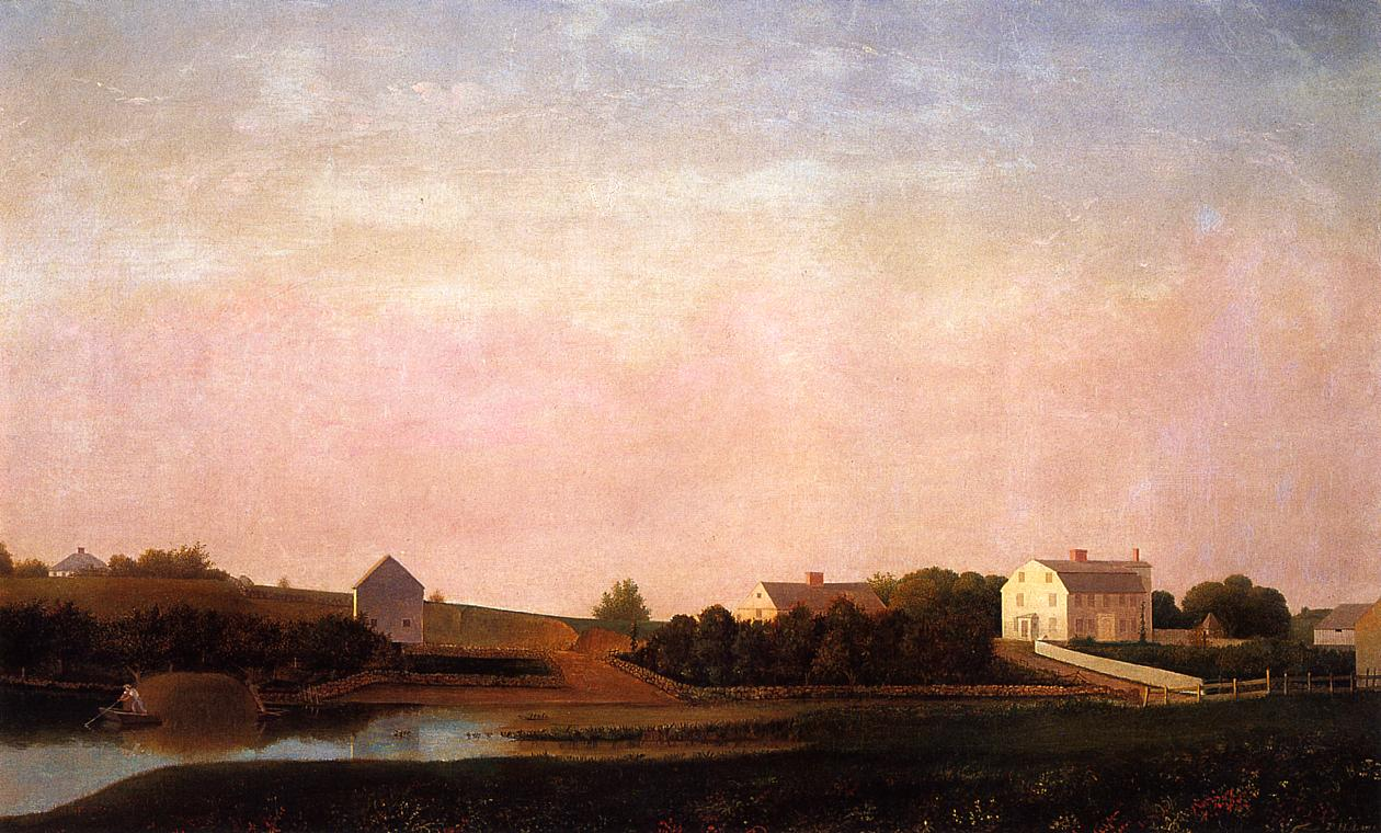 Babson and Ellery Houses Gloucester 1863 | Fitz Hugh Lane | Oil Painting