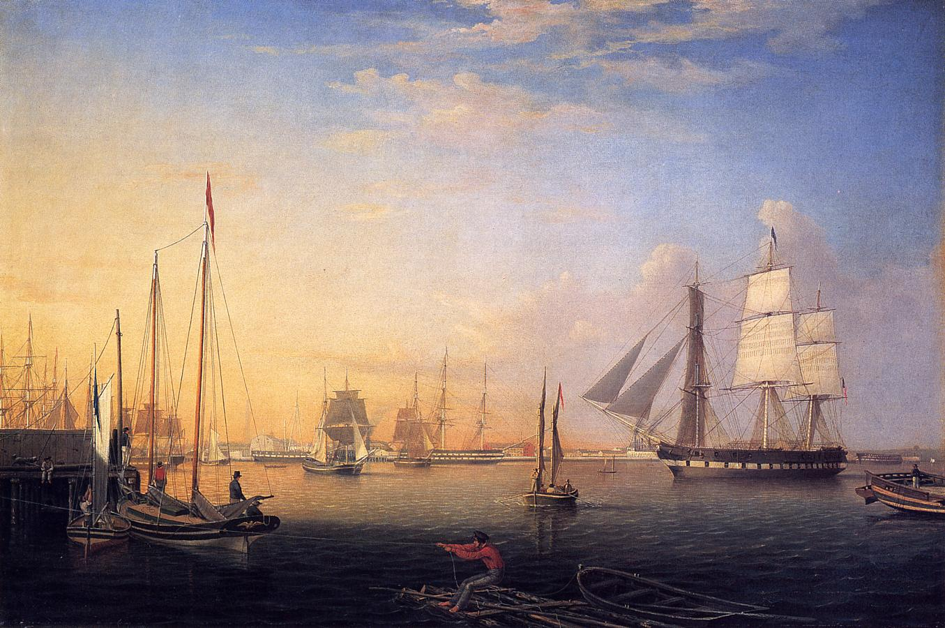 Baltimore Harbor 1850 | Fitz Hugh Lane | Oil Painting