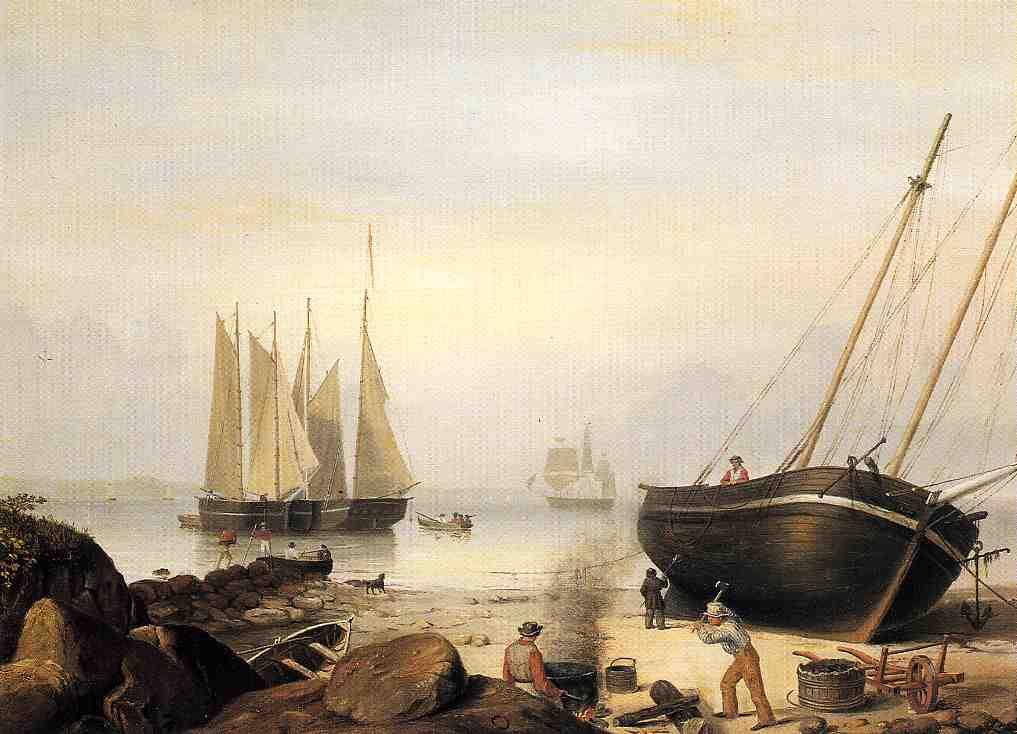 Beached for Repairs 1848 | Fitz Hugh Lane | Oil Painting