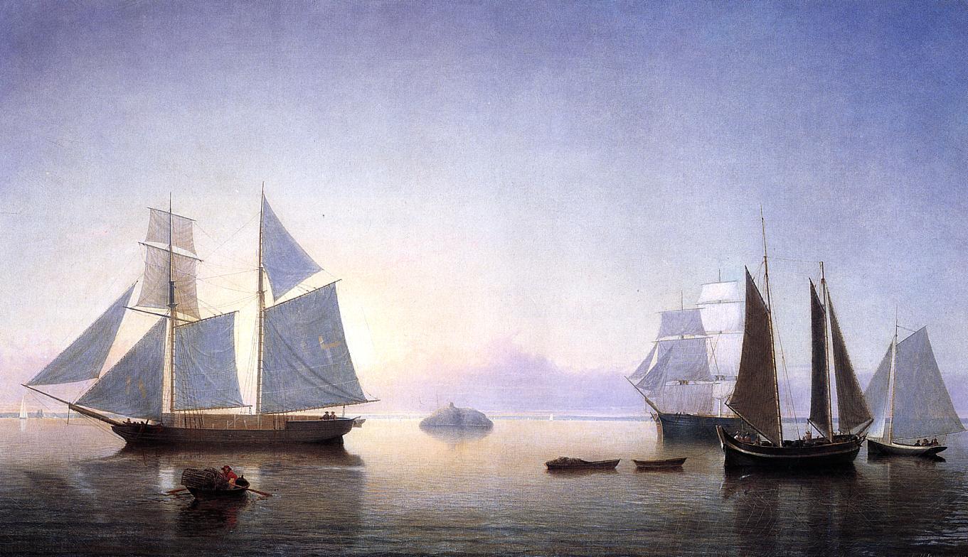 Becalmed off Halfway Rock 1860 | Fitz Hugh Lane | Oil Painting