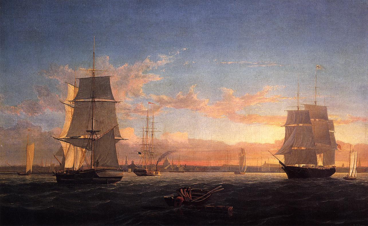 Boston Harbor at Sunset 1853 | Fitz Hugh Lane | Oil Painting