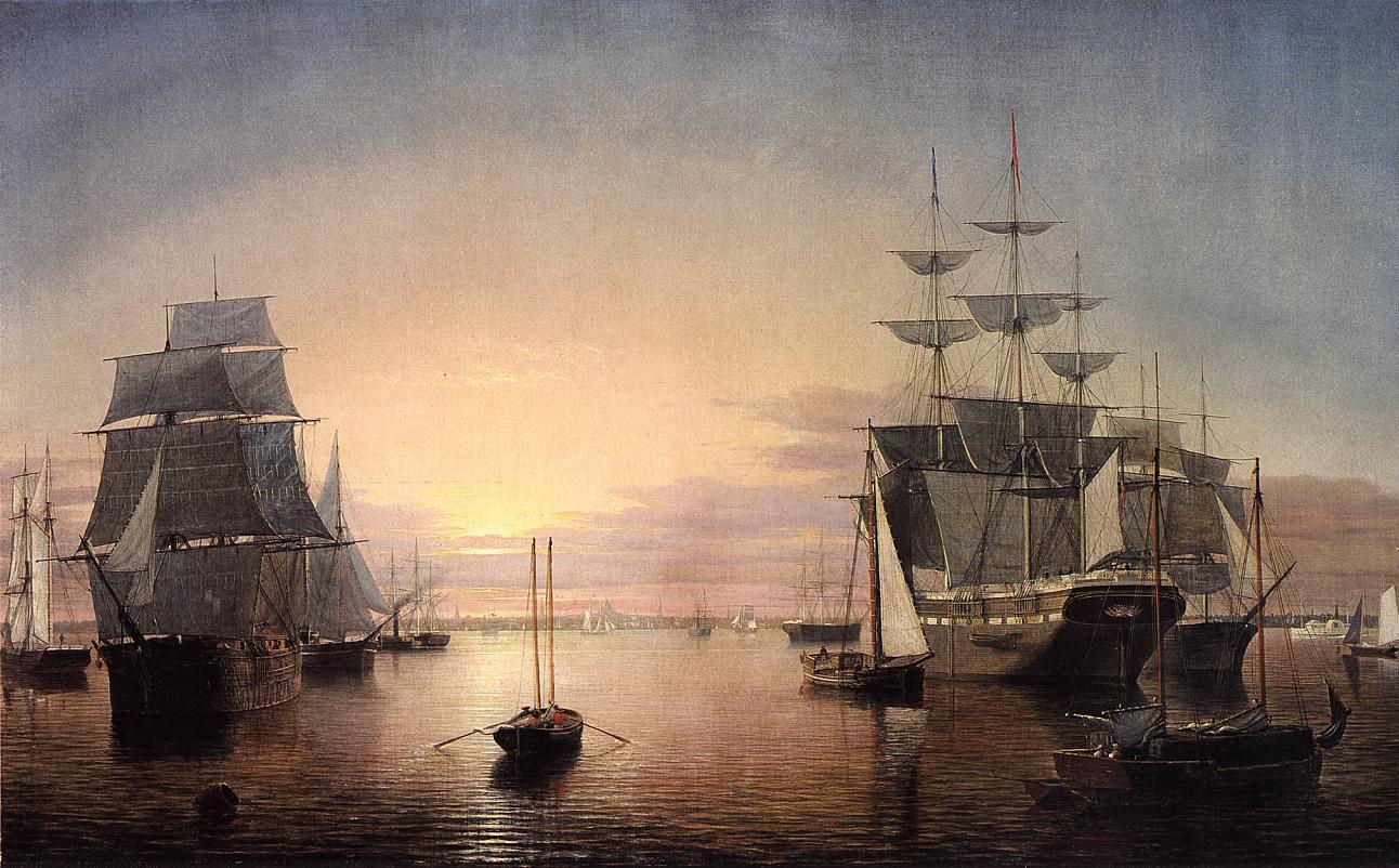 Boston Harbor at Sunset 1850 1855 | Fitz Hugh Lane | Oil Painting