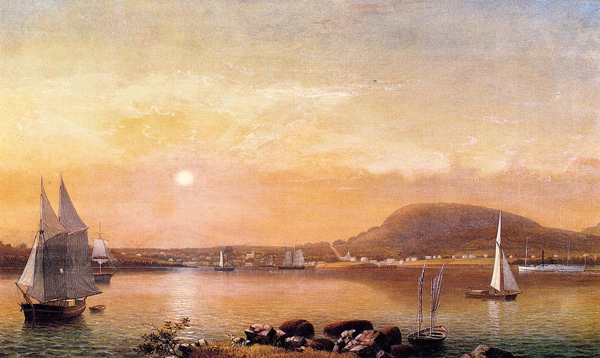Camden Mountains and Harbor from the North Point of Negro Island 1855 | Fitz Hugh Lane | Oil Painting