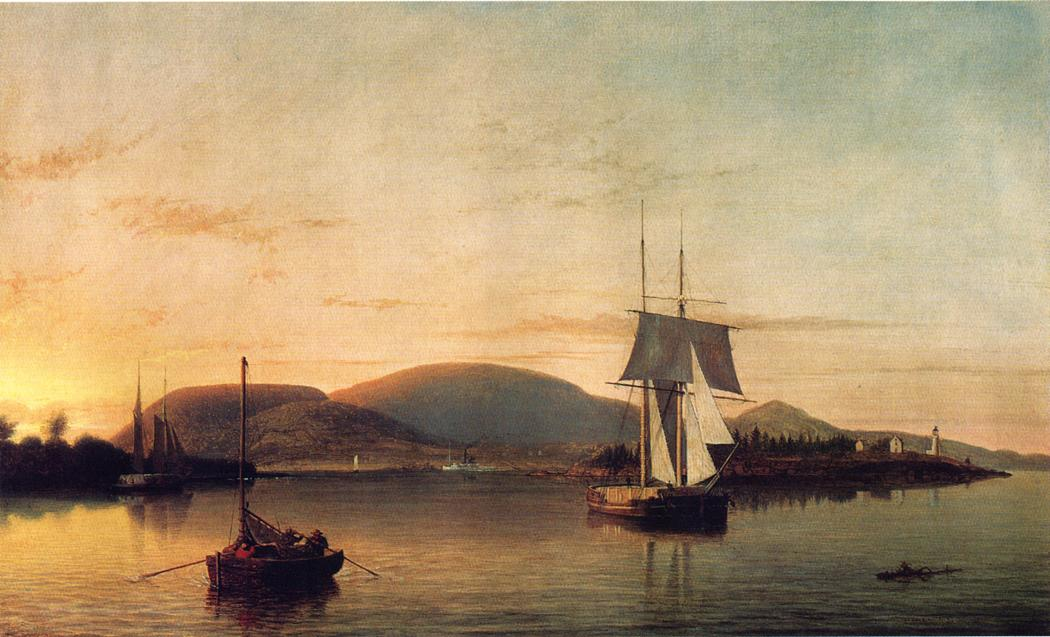 Camden Mountains from the South Entrance to the Harbor 1859 | Fitz Hugh Lane | Oil Painting