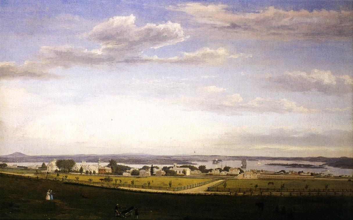 Castine from Fort George 1856 | Fitz Hugh Lane | Oil Painting