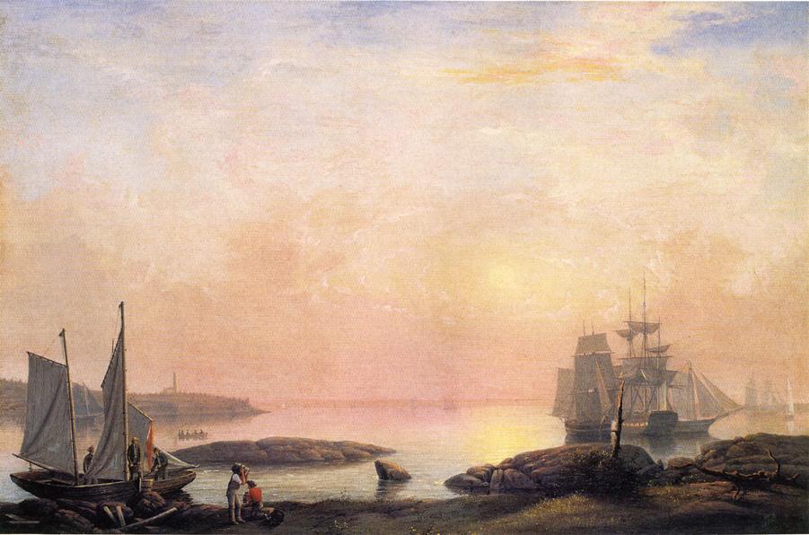 Castine Harbor 1852 | Fitz Hugh Lane | Oil Painting
