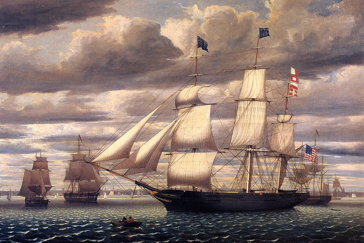 Clipper Ship Southern Cross Leaving Boston Harbor 1851 | Fitz Hugh Lane | Oil Painting