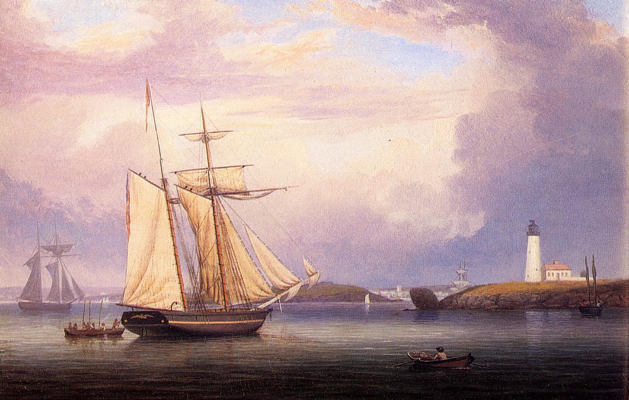 Drying Sails off Ten Pound Island 1840 1844 | Fitz Hugh Lane | Oil Painting