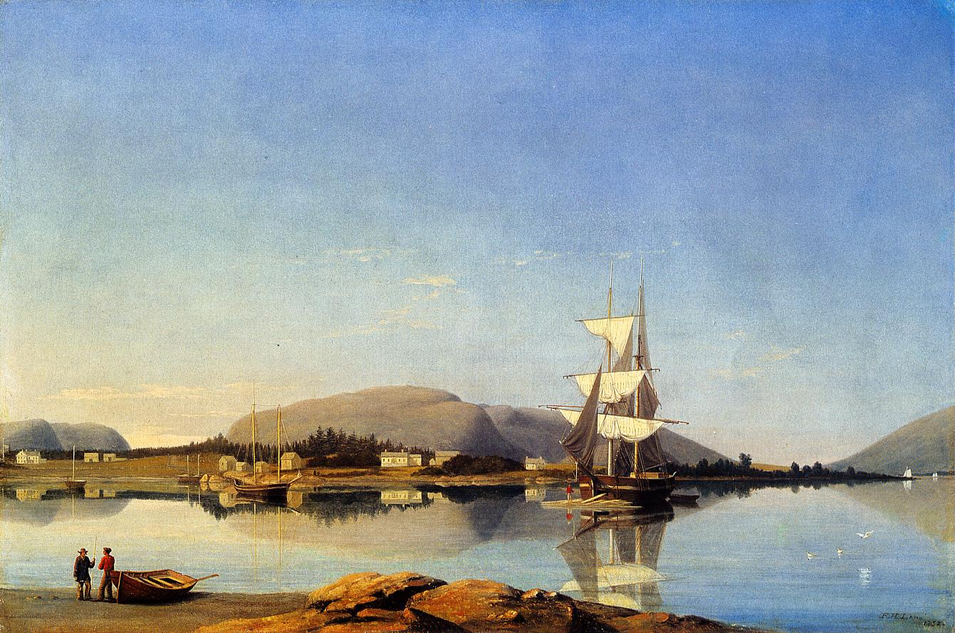 Entrance of Somes Sound from Southwest Harbor 1852 | Fitz Hugh Lane | Oil Painting