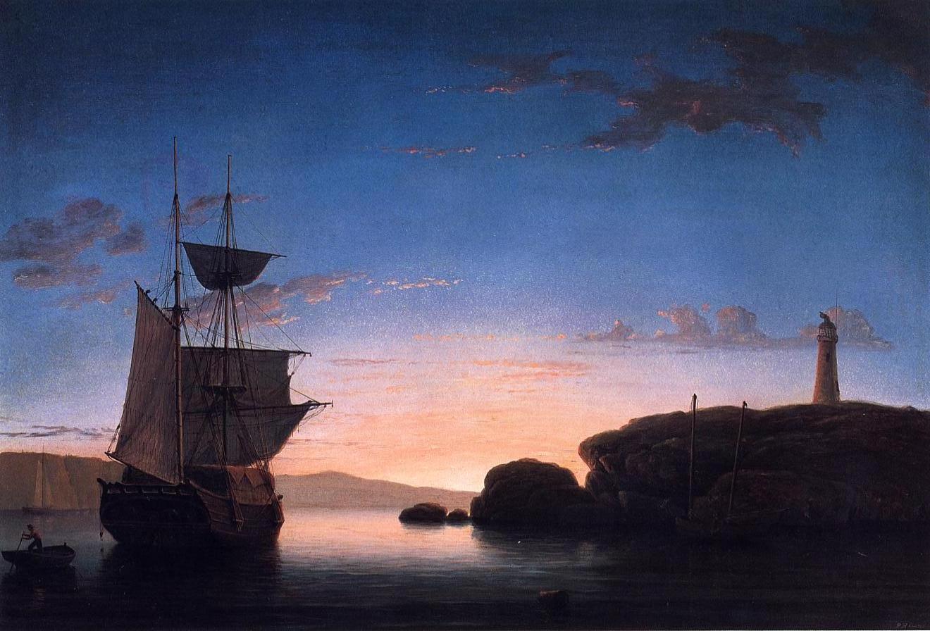 Fishing Party 1850 | Fitz Hugh Lane | Oil Painting