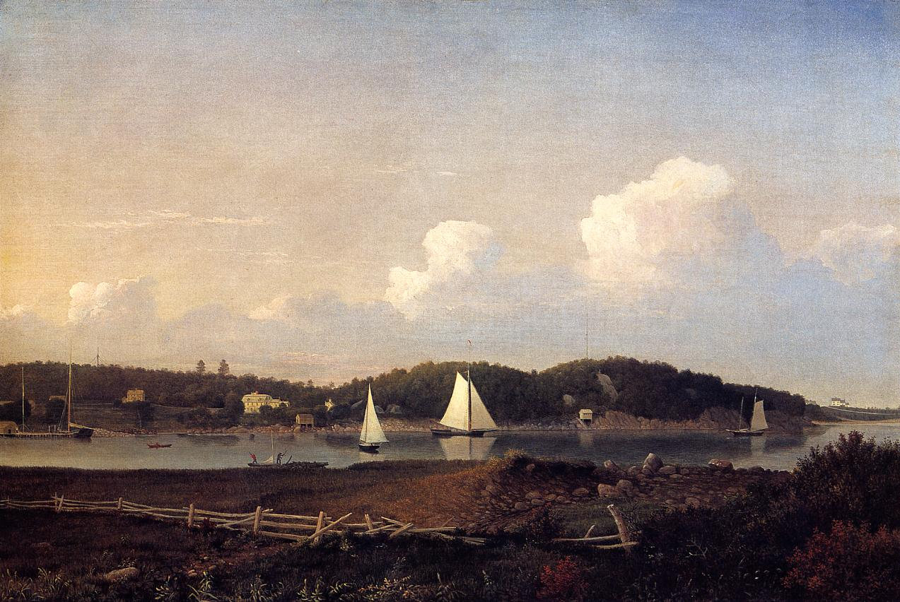 Fresh Water Cove from Dolliver's Neck Glouster 1851 1854 | Fitz Hugh Lane | Oil Painting