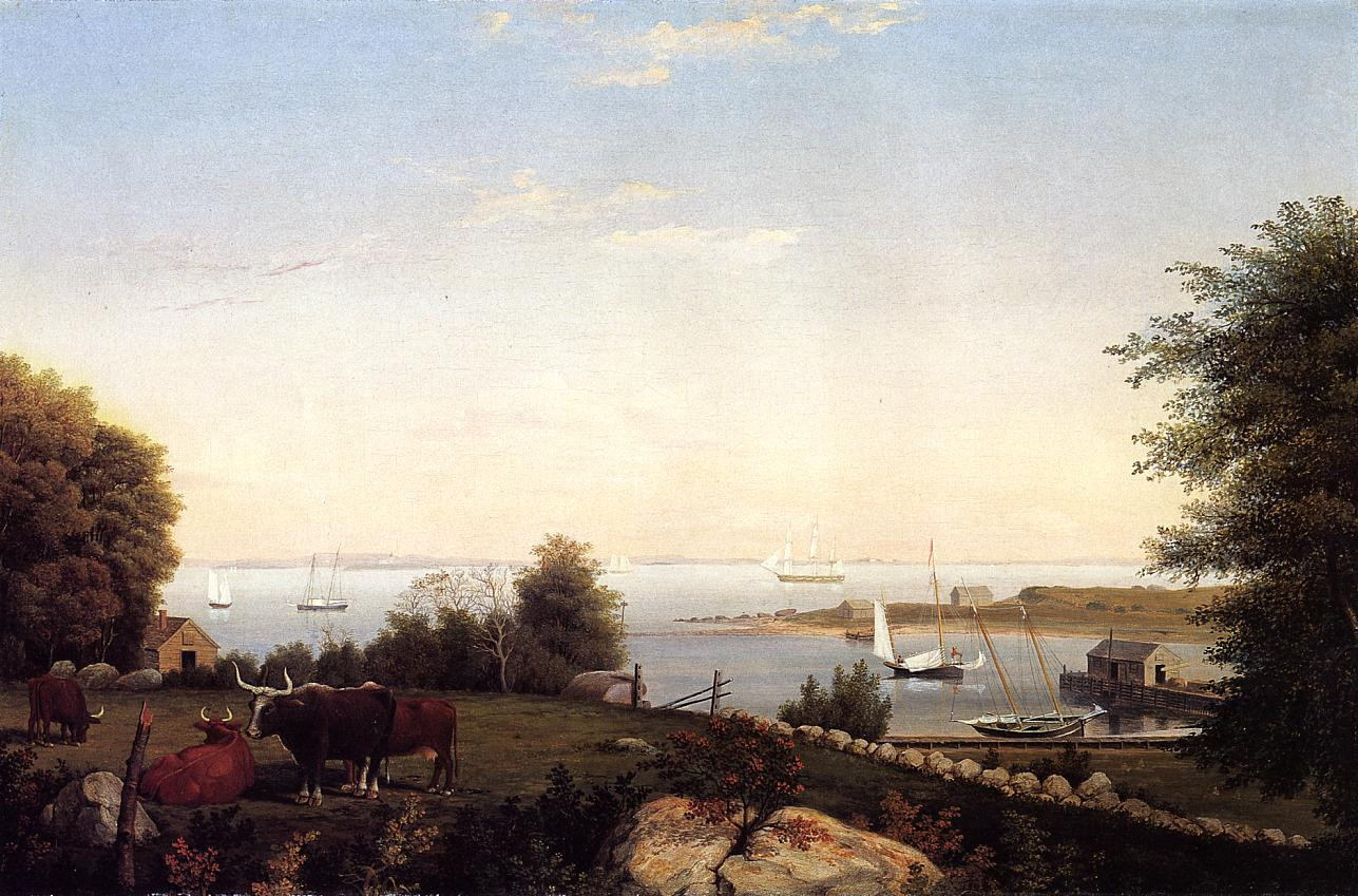 Gloucester from Brookbank 1846 1849 | Fitz Hugh Lane | Oil Painting