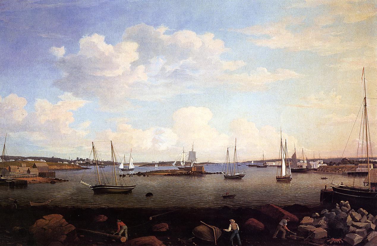 Gloucester Harbor 1847 | Fitz Hugh Lane | Oil Painting