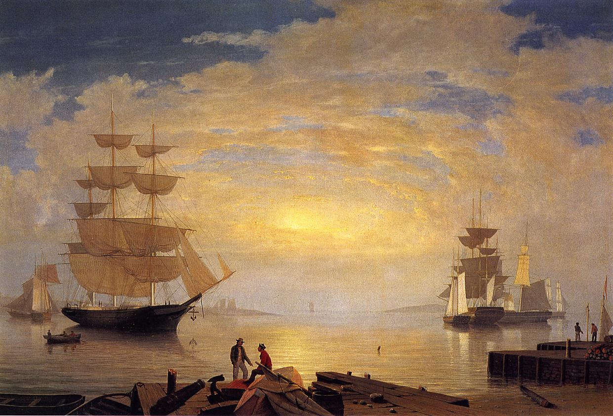 Gloucester Harbor at Sunrise 1851 | Fitz Hugh Lane | Oil Painting