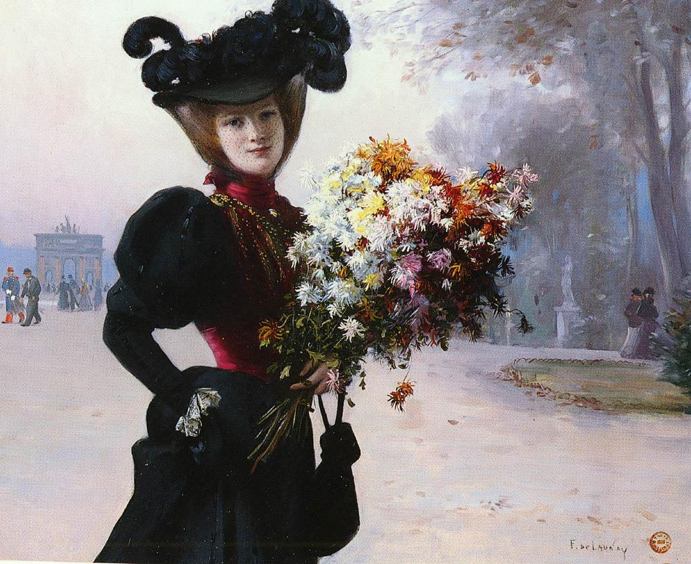 La Femme Au Fleurs Jardin Du Tuileries