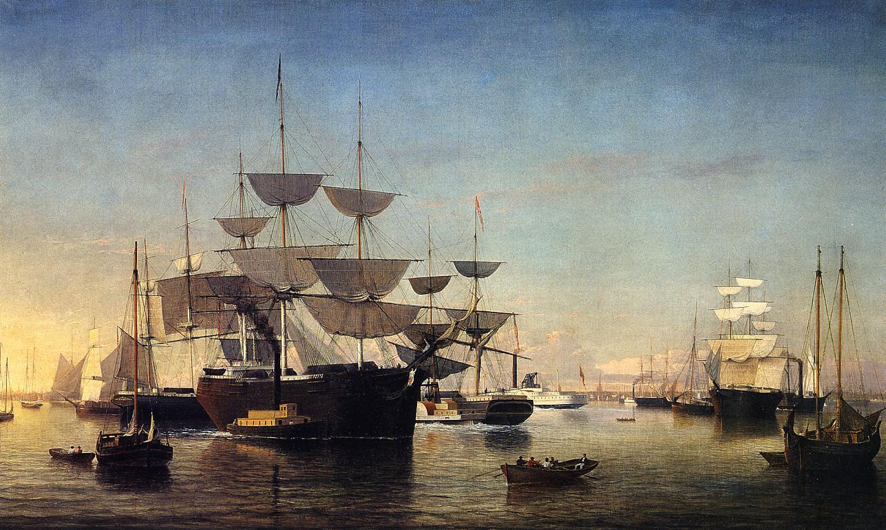 New York Harbor 1860   Fitz Hugh Lane   Oil Painting