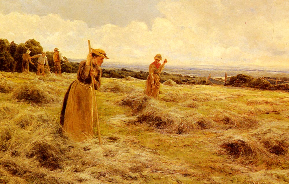 Haymaking | Florence A Saltmer | Oil Painting