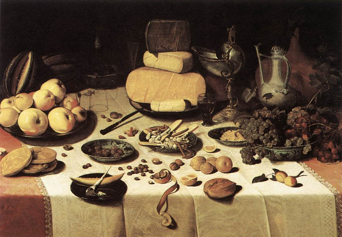 Laid Table 1622 | Floris Claesz Van Dijck | Oil Painting