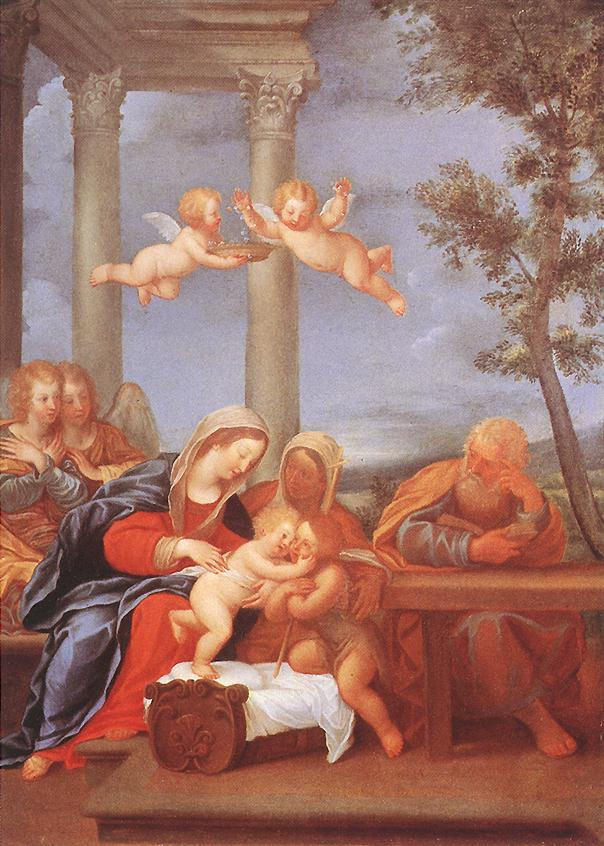 Holy Family 1630-35 | Francesco Albani | Oil Painting