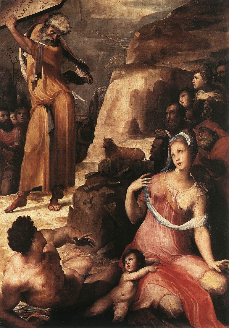 Moses And The Golden Calf 1536 37 Painting Francesco Beda Oil