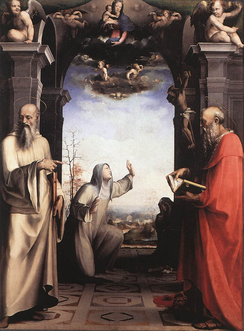 Stigmatization Of St Catherine Of Siena 1515 | Francesco Beda | Oil Painting