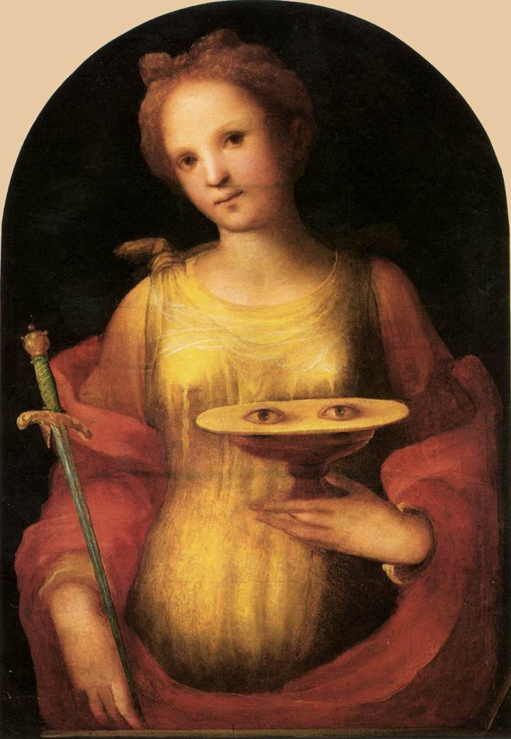 St Lucy 1521 | Francesco Beda | Oil Painting